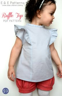 E & E Patterns Girls Ruffle Blouse 30% off until Mar 18 with code INTRO30OFF