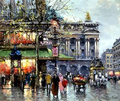 Café de la Paix Opera \\ Antoine Blanchard (Marcel Masson)