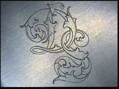 Sam Alfano's Tips & Tricks for Hand Engravers - Leaf Script Graffiti Lettering Fonts, Fancy Letters, Hand Lettering Tutorial, Leaf Drawing, Leather Carving, Metal Engraving, Calligraphy Alphabet, Sketch Inspiration, Stencil Painting