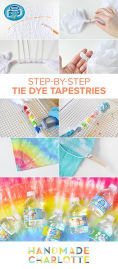 Spring days were made for outdoor crafting. This Tie Dye Tapestry project from Handmade Charlotte is the perfect way to spend a sunny afternoon. Combine crafting with Nestle Pure Life Kid Designed Edition bottles and keep kids hydrated while they let their creativity soar.