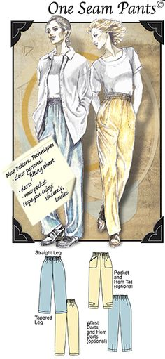 Pattern 'One Seam Pants' ( SKU: PT-031371 )