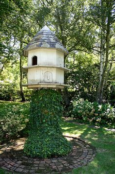 dovecote.... incredible and awwwwesome both!!! looove the brick path and the whole garden setting!!!!