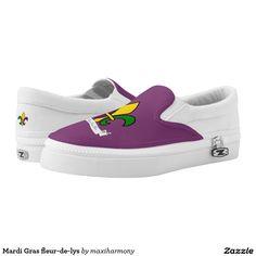 Mardi Gras fleur-de-lys Printed Shoes