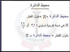 Image result for محيط الدائرة Language, Math, Math Resources, Language Arts, Early Math, Mathematics