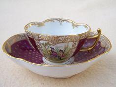 ANTIQUE DRESDEN AUGUSTUS REX TEA CUP & SAUCER DUO SET # 3 | eBay
