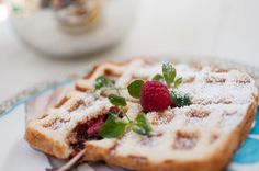 """Easy Raspberry """"Nutella"""" Wafflewich (Series #1)   Wondermint Kids. This is a cinch to make with kids."""