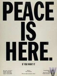 Imagine all the people living life in peace