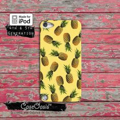 Pineapple Pattern Yellow Summer Cute Fruit Tumblr Custom Case iPod Touch 4th Generation or iPod Touch 5th Generation Rubber or Plastic Case on Etsy, $14.99
