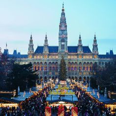 Best Christmas Markets in Europe Via TL Theres nothing like walking around a Weihnachtsmarkt in Germany France or Austria drinking Glüwein or my favorite Hot Chocol. Vienna Christmas, Best Christmas Markets, Christmas Markets Europe, Christmas Travel, Christmas Time, Christmas Destinations, Oh The Places You'll Go, Places To Travel, Bad Gastein