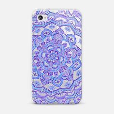Radiant Cobalt & Royal Purple Mandala on Transparent - Classic Snap Case