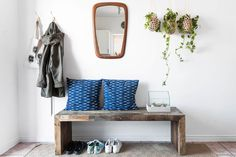Stylish Shoe Storage Solutions You Need For a (Finally!) Tidy Entryway The Stylish Shoe Storage Solutions You Need For a (Finally! Decor, Furniture, Interior, Entryway Decor, Home Decor, Apartment Decor, Apartment Therapy, Diy Entryway Bench, Interior Design