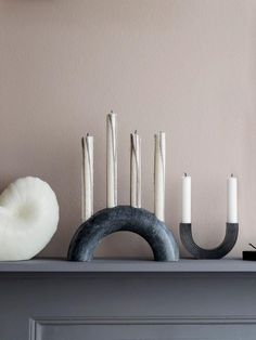 Bow Candle Holder by Ferm Living Bow Candle Holder by Ferm Living Ceramic Pottery, Ceramic Art, Clay Candle Holders, Modern Candle Holders, Candle Holder Decor, Marble Candle, Best Interior Paint, Interior Design, Paint Brands