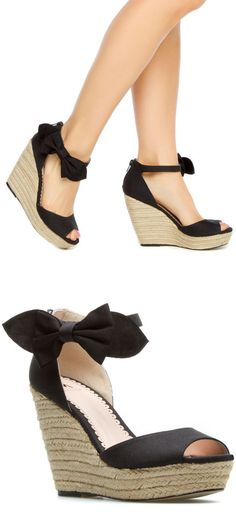 Bow Wedges ♡ L.O.V.E.