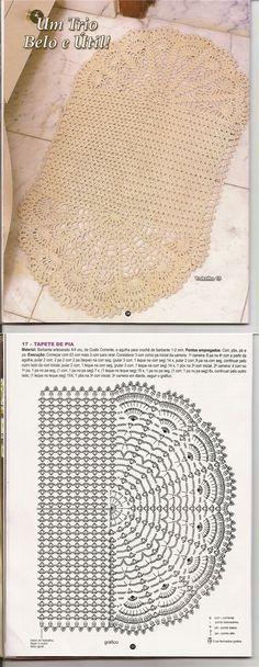 5 Free Crochet Bathroom Set Free Crochet Patterns Diy with regard to sizing 700 X 1847 Free Crochet Patterns For Bathroom Sets - Bathroom sets happen to Crochet Rug Patterns, Granny Square Crochet Pattern, Crochet Mandala, Crochet Chart, Filet Crochet, Crochet Doilies, Crochet Stitches, Crochet Rugs, Doily Rug