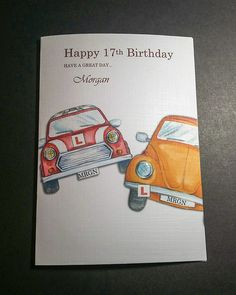 PERSONALISED 17TH BIRTHDAY CARD, DRIVING LESSONS £3.50