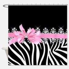 Zebra (pink) Shower Curtain for