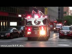 FDNY - Engine 8, Ladder 2, Ballalion 8 & Battion 9 on full house turnout - YouTube