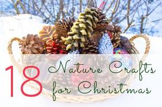 These are some of my favorite nature crafts for Christmas!