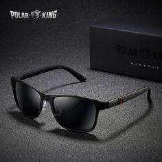 POLARKING Marca Metal óculos escuros De Grife Óculos Polarizados Para Homens  Óculos de Condução Óculos de Sol Quadrados Para homens Moda Eyewear Viagem 4f3e94ba35