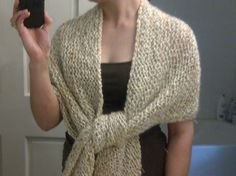 Took 2 skeins exactly! Super easy, great project for beginners.