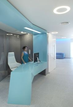 Free form reception desk. Embryocare Clinic Displaying New Direction In Healthcare Design