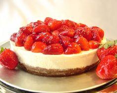 Una receta de un #cheesecake de #philadelphia con fresas. La mejor opción para el postre.