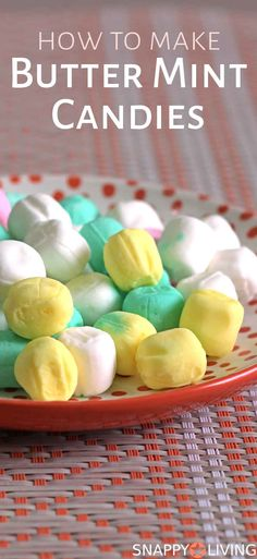 How to Make Homemade Butter Mint Candy | butter mint candy recipe | butter mint candies | #recipes #candy