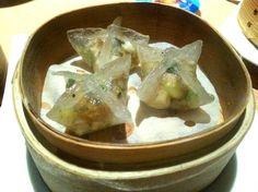 Advanced birthday celebration for mum - mushrooms crystal dumplings with truffles