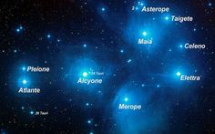 """Le Pleiadi, l'ammasso conoscito come """"Le sette sorelle"""" L'ammasso stellare delle Pleiadi, anche noto come Messier 45 (M45), è uno dei più brillanti ammassi di stelle visibili nell'emisfero settentrionale. Consiste di molte stelle calde e giovani, che si s #merope #pleiadi #pleione #taygeta #maia"""