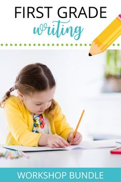 Want to make your first grade students stronger writers and help them enjoy writing? This Writing Workshop Bundle includes 8 units that teach writing workshop routines and procedures, personal narratives, how-to books, opinion writing, fairy tale and realistic fiction, nonfiction/informational books, persuasive letters, and poetry! #firstgrade #teacherblog #teachertoolbox #firstgradeclassroom Writing Classes, Writing Lessons, Writing Workshop, Writing Skills, Writing Rubrics, Opinion Writing, Cool Writing, Kids Writing, Teaching Writing