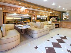 Interior of the 2015 Thor Motor Coach Tuscany