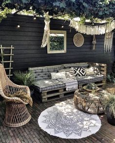 Pergola Patio, Backyard Patio, Pergola Kits, Pergola Ideas, Pallet Pergola, Terrace Ideas, Modern Pergola, Wood Patio, Diy Patio