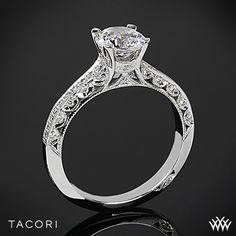 Tacori 2616RD Classic Crescent Pave Half Eternity Diamond Engagement Ring