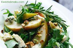 Sałatka z gruszkami i gorgonzolą