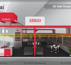 10 Meter x 8 Meter Exhibition Booth Exhibition Stall Design, Stand Design, Designer, Logo Design, Construction, Square Meter, Korea, Home Decor, Building