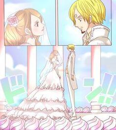 wedding sanji and Purin
