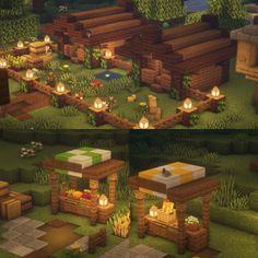 Minecraft Farm, Minecraft Cottage, Easy Minecraft Houses, Minecraft House Tutorials, Minecraft Castle, Minecraft Plans, Minecraft House Designs, Minecraft Construction, Amazing Minecraft