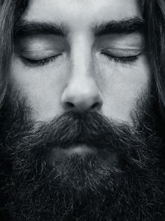 Don't really know who this is, but someone gradually turn up the music to wake him up okay. Photography by Anton Östlund. Beard Styles For Men, Hair And Beard Styles, Long Hair Styles, Sexy Beard, Epic Beard, Mens Facial, Facial Hair, Moustaches, Barba Sexy