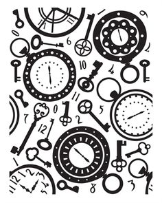 Ultimate Craft Embossing Folder Time Piece - Google Search