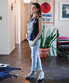 Andrea Linett Takes Us Through Her Apartment And Wardrobe | eBay's creative director, Andrea Linett gives us an interview and tour of her personal style, from her Lower East Side apartment #refinery29 http://www.refinery29.com/my-style-andrea-linett