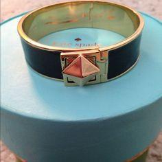 HOST PICKNWOT Kate Spade locked in bangle Locked in bangle in black. NWOT!Host Pick 4/7 Laid Back Glam kate spade Jewelry