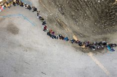 Rocco Rorandelli's life has been shaped by immigration. But when he decided to photograph the current migrant crisis in Europe, he took a step back and went above, using a drone.