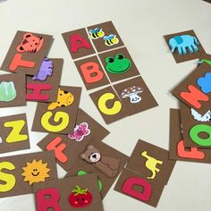 The best way to learn the alphabet letters is to play with them! Alphabet Cards, Alphabet Letters, Educational Crafts, Learning The Alphabet, Diy Funny, Crafts For Kids, Kids Rugs, Classroom, Letters Of Alphabet