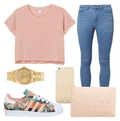 """Untitled #835"" by beaukastin ❤ liked on Polyvore featuring Monki, Noisy May, adidas, Gogo Philip, Rolex, Kate Spade and Miss Selfridge"