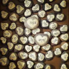 Wedding table place setting / Favors Personalised door PebbleChic, £3.50