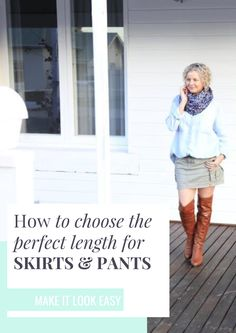 Are you having trouble figuring out what length of skirts, pants, and shorts you should be wearing with your outfit? This FREE ebook will help you figure out exactly what length bottoms will work with your outfit. Make sure you save these tips for wearing skirts to your fashion board so you can find it later.
