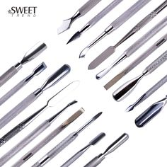 Cheap nail care tools, Buy Quality manicure pedicure directly from China steel nails Suppliers: Stainless Steel Nail Art Double Sided Cuticle Finger Dead Skin Cut Remover Pusher Manicure Pedicure Nail Care Tools Sephora, Simple Wedding Makeup, Cuticle Remover, Stainless Steel Nails, Colorful Eye Makeup, Manicure Tools, Glue On Nails, Perfect Makeup, Dead Skin