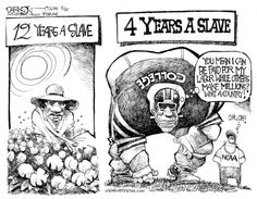 Comparison between slavery and athletes being trapped for 4 years