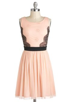 Candied Confection Dress - Pink, Black, Lace, A-line, Sleeveless, Love the lace side panels and the ballerina skirt. Plus size up to a 3x $54.99. 1x is sold out now.