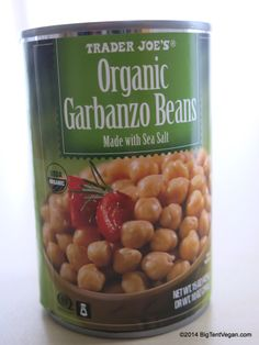 Organic Garbanzo Beans with Sea Salt #vegan